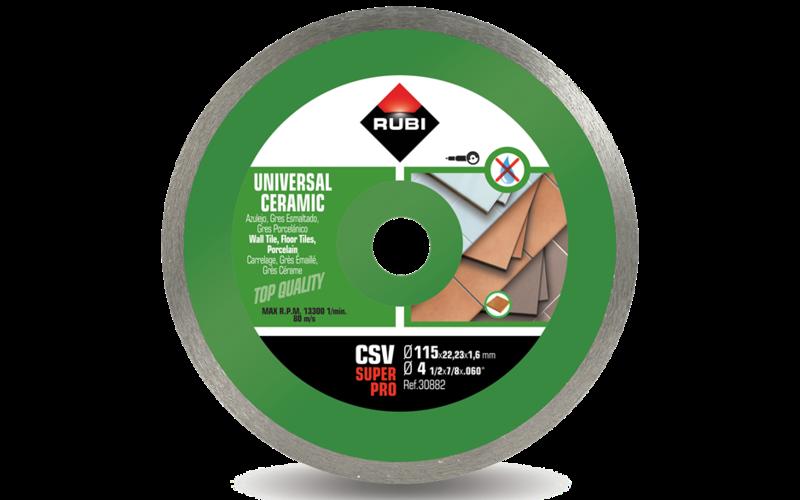 CSV &nbsp;SuperPro<br> Алмазный диск Rubi<br> 115 * 22,2 * 1,6 * 7