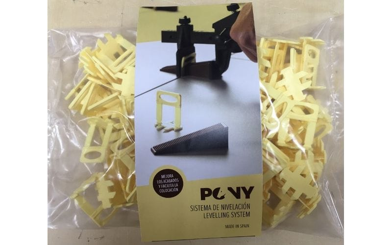 Стойка 1 мм  плитка 3-16 мм<br> Pony Leveling System<br> 100 шт.