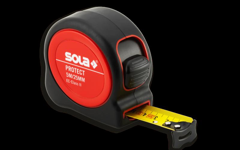 SOLA рулетка PROTECT<br> II - класс точности<br> 5 м * ширина 25 мм !