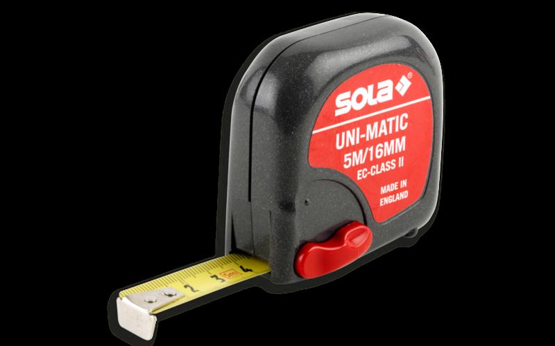 SOLA рулетка UNI-MATIC<br> II - класс точности<br> 2 м * 16 мм
