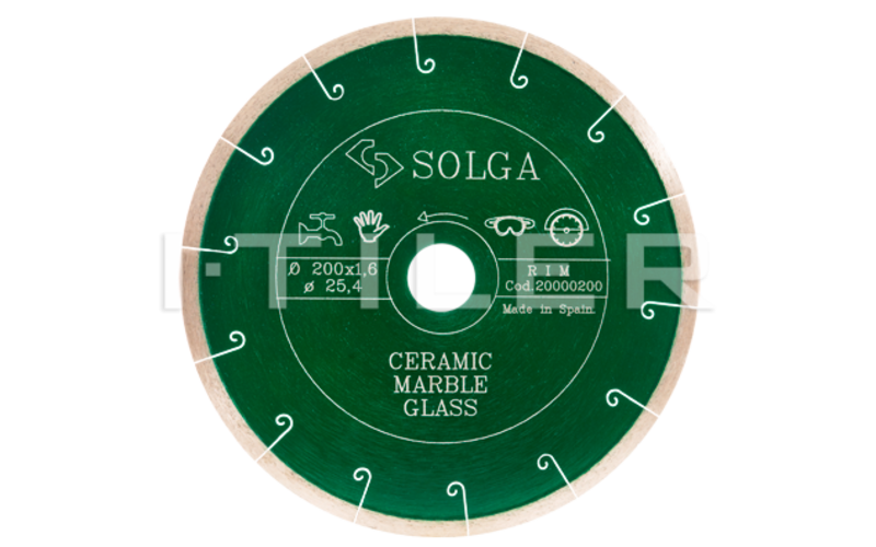 SOLGA Diamant   GREEN<br> алмазный диск<br> 180 * 22,2 (25,4) * 1,6 * 5