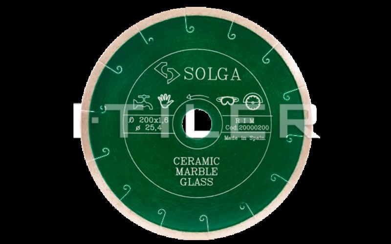 SOLGA Diamant  GREEN<br> алмазный диск<br> 180 * 22,2 (25,4) * 1,6 * 5