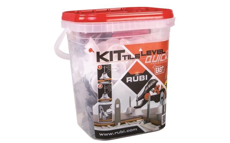 Tile Level Quick RUBI<br> Набор: зажим, стойки 100 шт., колпаки 100 шт. - АКЦИЯ