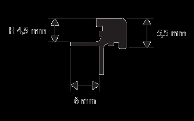 Prokerlam Square&nbsp; &nbsp; h 4,5 мм<br> серебро&nbsp; &nbsp; L 2,7 м<br> PKLQAA 045