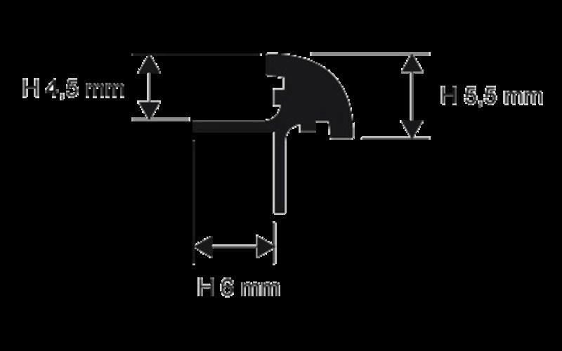 Prokerlam Jolly  h 4,5 мм<br> серебро  L 2,7 м<br> PKLJAA 045