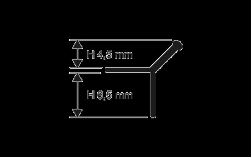 Prokerlam Line  h 4,5 мм<br> серебро  L 2,7 м<br> PKLLAA 045