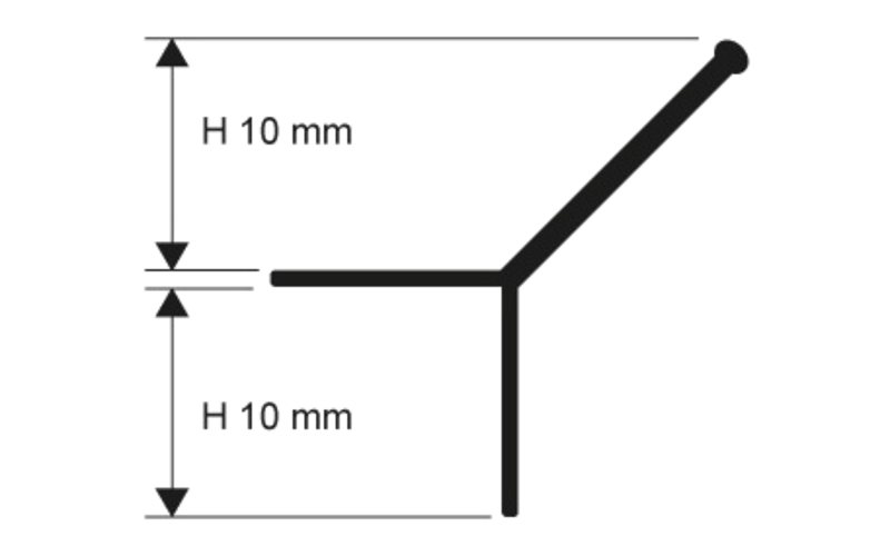 Prokerlam Line  h 10 мм<br> серебро  L 2,7 м<br> PKLLAA 10