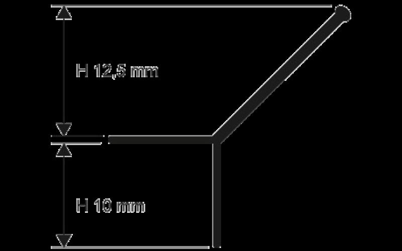 Prokerlam Line  h 12,5 мм<br> серебро  L 2,7 м<br> PKLLAA 125