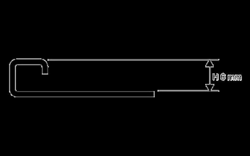 Projolly Square  h 6 мм<br> полирование  L 2,7 м<br> PJQAC 06