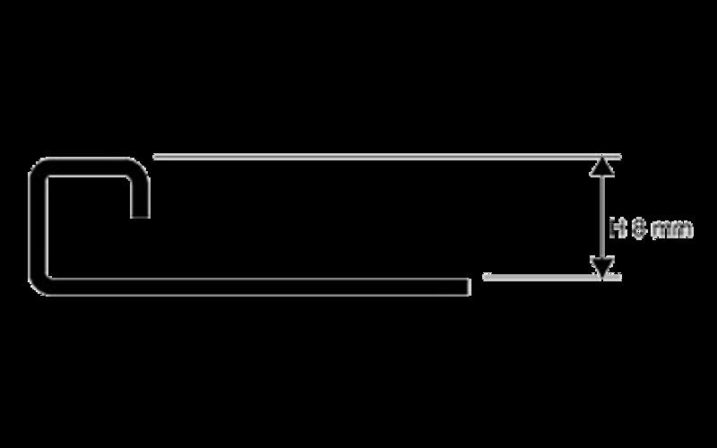Projolly Square  h 8 мм<br> полирование  L 2,7 м<br> PJQAC 08