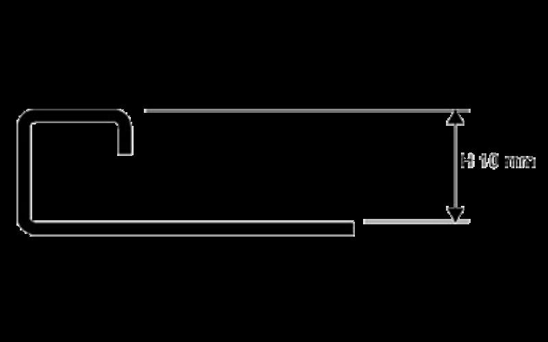 Projolly Square  h 10 мм<br> полирование  L 2,7 м<br> PJQAC 10