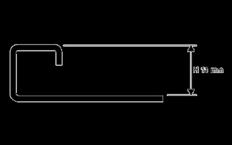 Projolly Square  h 11 мм<br> полирование  L 2,7 м<br> PJQAC 11