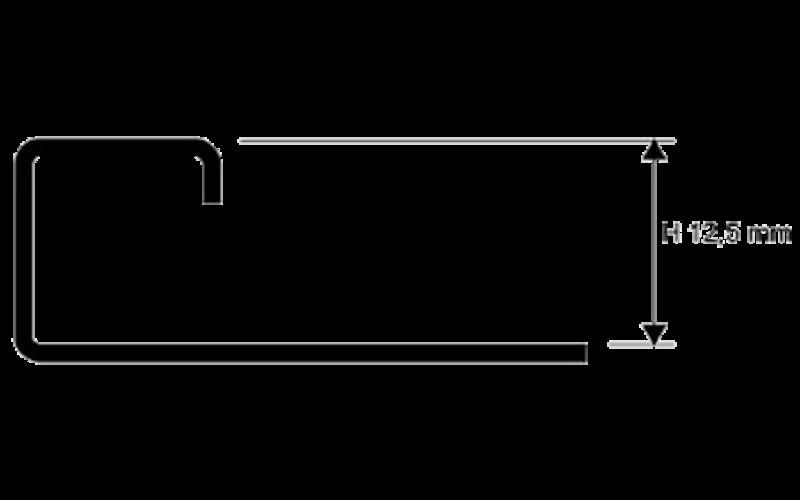 Projolly Square  h 12,5 мм<br> полирование  L 2,7 м<br> PJQAC 125