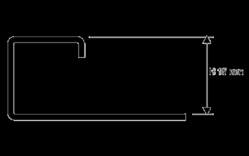 Projolly Square  h 15 мм<br> полирование  L 2,7 м<br> PJQAC 15